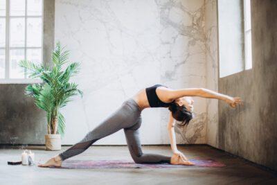 Intensive Yoga Woman Pose
